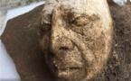 Hallan en sitio maya de Palenque cabeza de estuco de Pakal El Grande