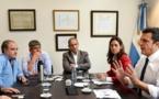 Sergio Massa con sindicalistas: paro, crisis y guiño a gremios peronistas