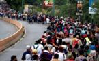La Caravana de migrantes hondureños a su paso por Chiquimula, Guatemala