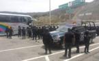 Policías chocan con estudiantes de Ayotzinapa en sur de México